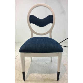 Caracole Modern Prototype Blue and White Wave Dining Chairs Set of Ten Preview