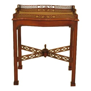Chippendale Mahogany Tea Table With Gallery