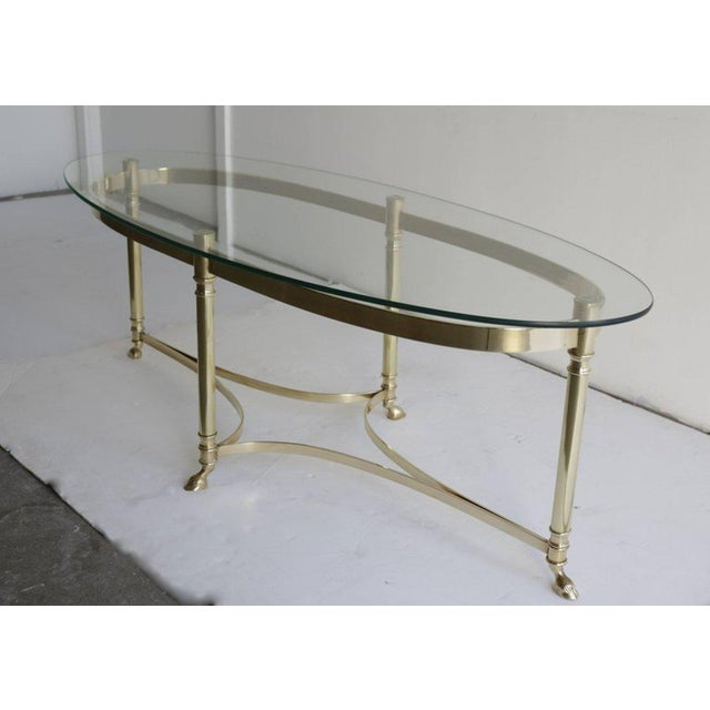 Mid-Century Modern Midcentury Italian Brass Coffee Table For Sale - Image 3 of 5