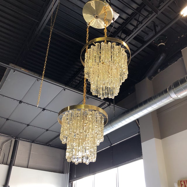 Vintage Icicle Double Pendant Light For Sale - Image 4 of 9