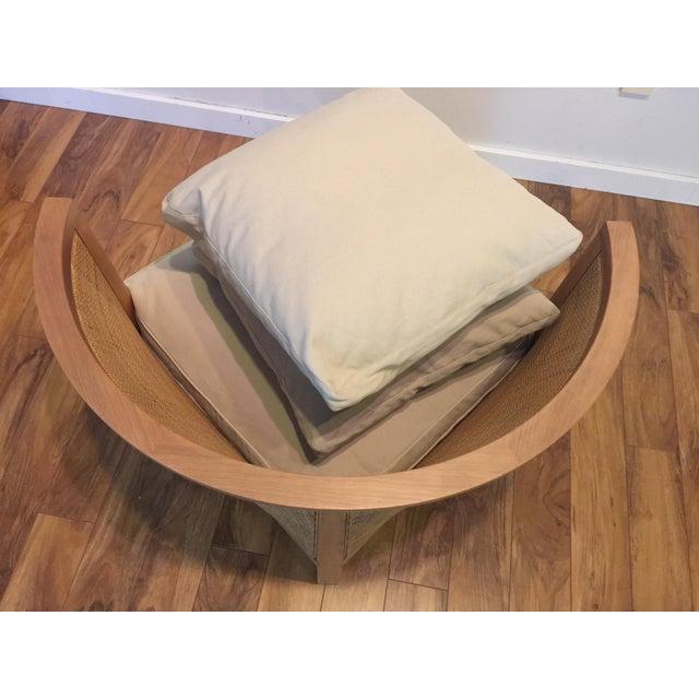 Flexform Italian Wood & Wicker Rosetta Chair For Sale - Image 9 of 11