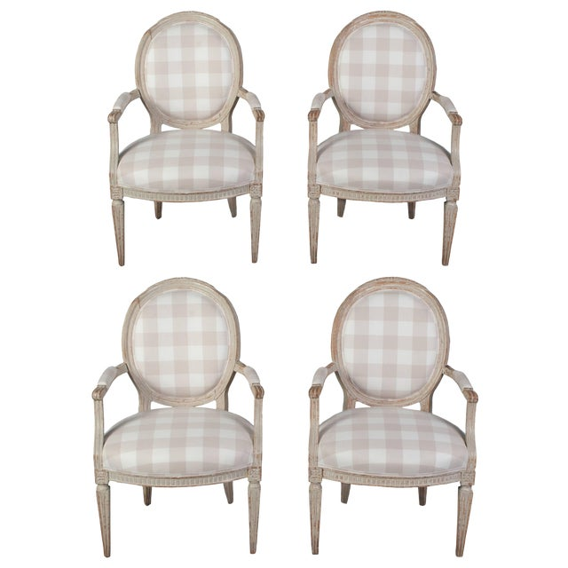 Set of Four Armchairs For Sale