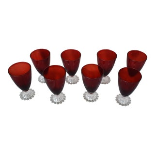 Anchor Hocking Ruby Red Water Goblets - Set of 8 For Sale