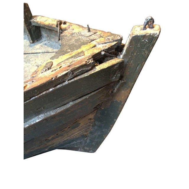 Decorative Wooden Boat For Sale - Image 4 of 6