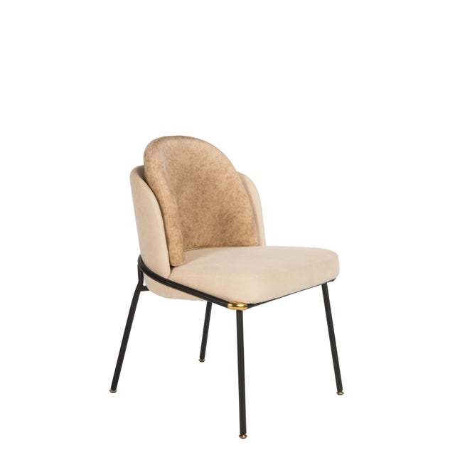 Modern Baron Beige Dining Chair For Sale - Image 4 of 4
