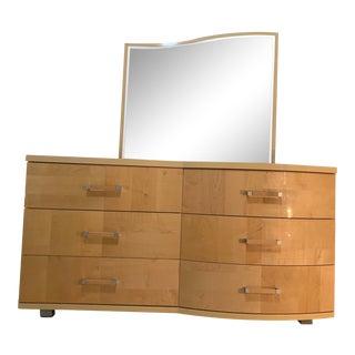 Alf Italia Queen Bedroom Set Dresser With Mirror For Sale