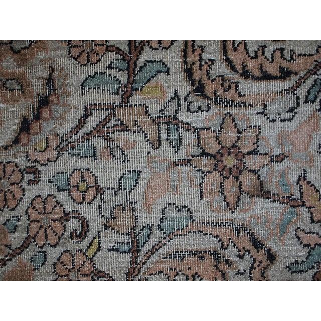 Vintage Silk Indian Indo-Tabriz Rug - 3′2″ × 5′3″ For Sale - Image 10 of 10