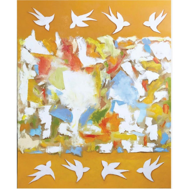Oil on Canvas Titled: Breaking Out of the Box For Sale - Image 4 of 4