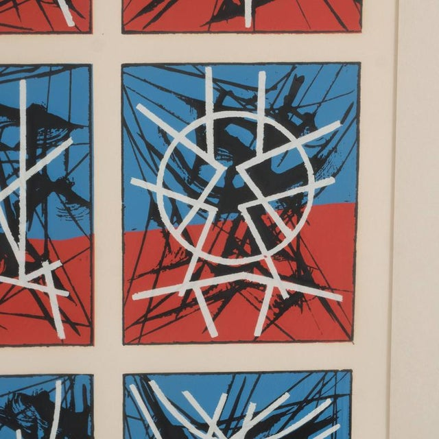 Mid-Century Modernist Screenprint by Jimmy Ernst Untitled For Sale - Image 10 of 11