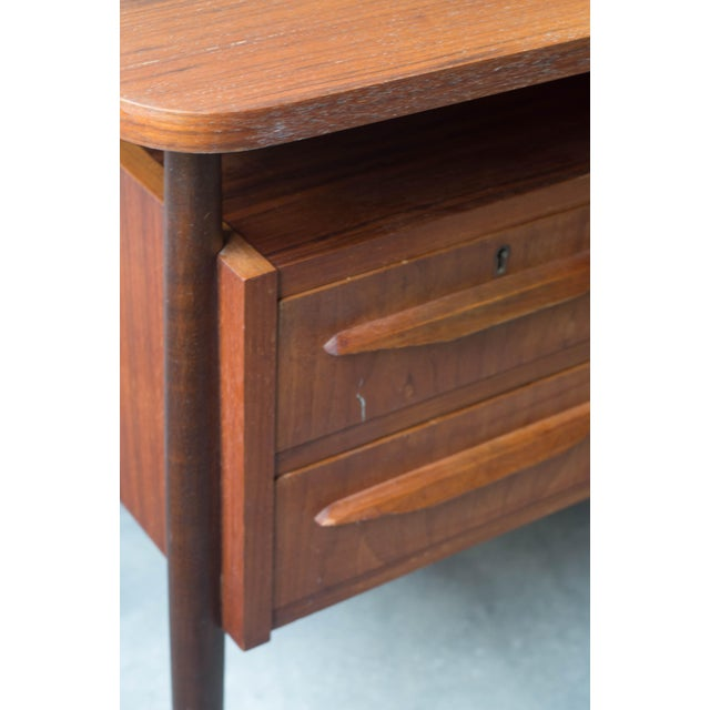 Vintage Danish Maurice Villency Mid-Century Desk Table - Image 5 of 8