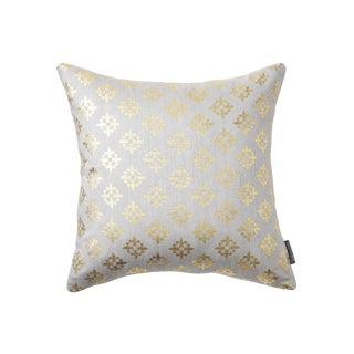 Valbonne Grey Hand Woven Silk Pillow