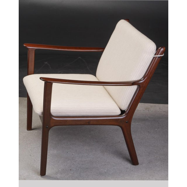 Danish Modern 1950s Ole Wanscher Pj112 Lounge Chairs in Mahogany - a Pair For Sale - Image 3 of 7