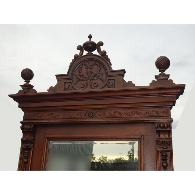 1930s Antique Ornate French Victorian Renaissance Revival Dresser Credenza W Marble For Sale - Image 5 of 12
