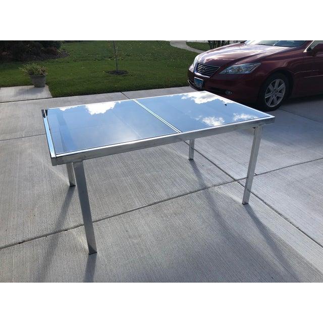 Milo Baughman Milo Baughman for Dia Chrome Smoke Glass Dining Table For Sale - Image 4 of 7
