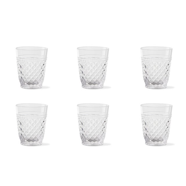Kenneth Ludwig Chicago Kenneth Ludwig Chicago Villa Acrylic Double Old Fashion Glasses - Set of 6 For Sale - Image 4 of 4