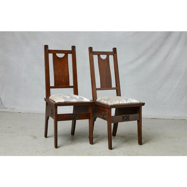 Brown Important Art Nouveau Dining Set by Ernesto Basile for Ducrot, Circa 1900 For Sale - Image 8 of 13
