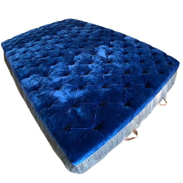 J.Rachman Blue Ottoman For Sale - Image 4 of 7
