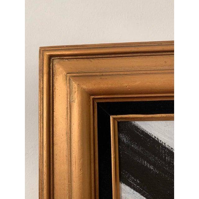 Franz Kline Black and White Franz Kline-Inspired Framed Painting For Sale - Image 4 of 5
