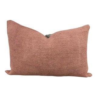 Turkish Modern Decor Hemp Pink Lumbar Pillow For Sale