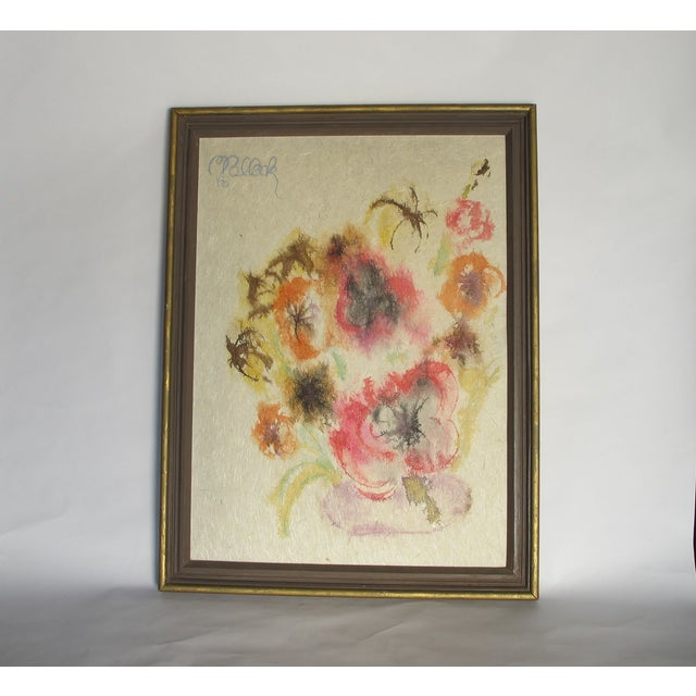 """1960s """" Love Power"""" Flower Painting - Image 4 of 4"""