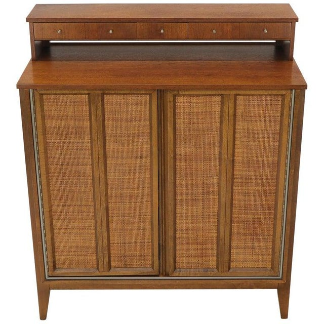 Mid-Century Modern High Chest Dresser With Separate Jewelry Compartment on Top For Sale - Image 10 of 10