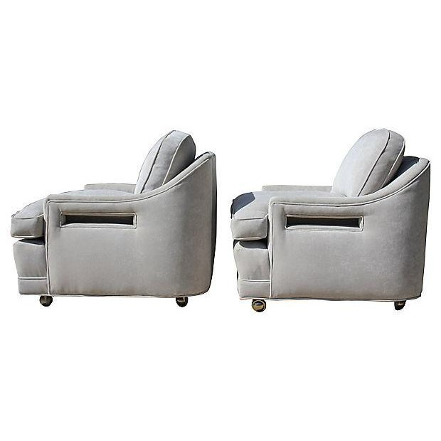 Mid-Century Gray Lounge Chairs - a Pair - Image 3 of 7