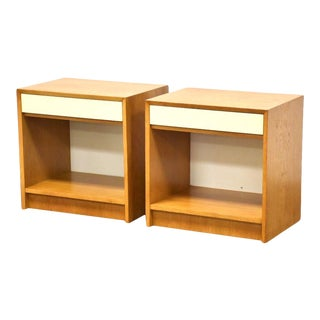 Polish Oak MCM Nightstands- a Pair For Sale