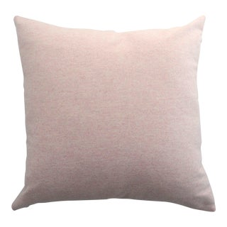 FirmaMenta Italian Soft Virgin Wool Pink and White Pillow For Sale