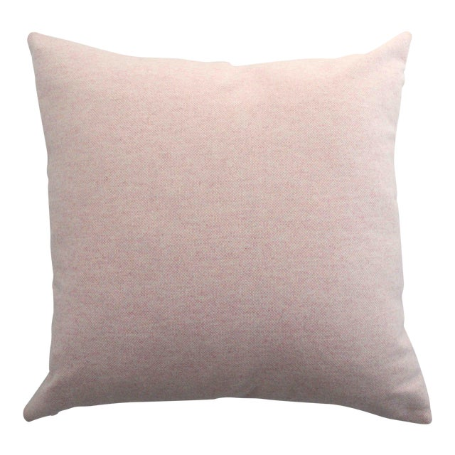 FirmaMenta Italian Virgin Wool Pink Pillow For Sale