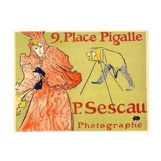 P. Sescau Photographe, Toulouse-Lautrec, Chromolithograph, 1951, Matted 16x20 For Sale