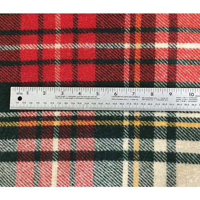 Adirondack 1980s Plaid Wool Blanket For Sale - Image 3 of 4