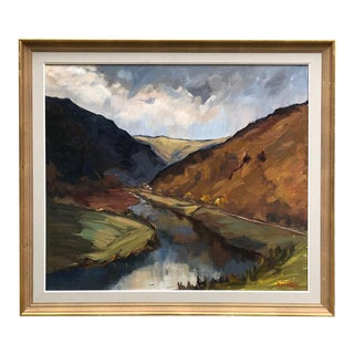Framed Oil Painting on Canvas by Henri Tambour (1916-1986) For Sale