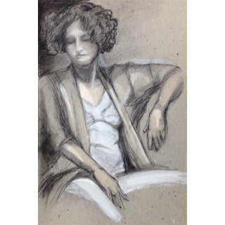 Kathleen Ney Repose Mixed Media Original Drawing For Sale