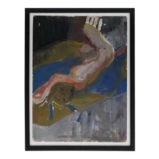 Framed Figurative Reclining Woman