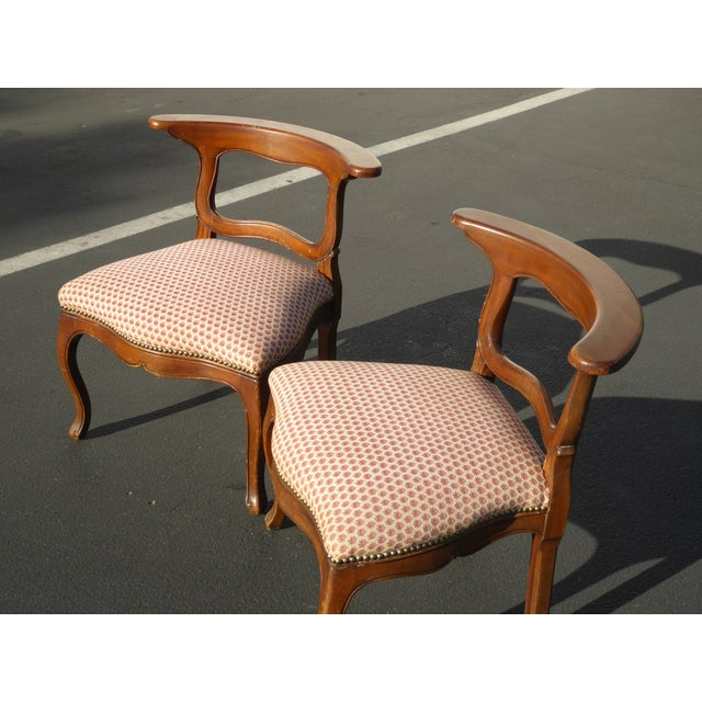 French Country Red Plaid Accent Chairs - A Pair For Sale - Image 4 of 10