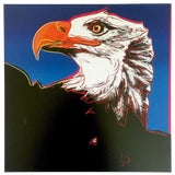 "Image of Andy Warhol Estate Rare Vintage 1992 Endangered Species Collector's Lithograph Pop Art Print "" Bald Eagle "" 1983 For Sale"