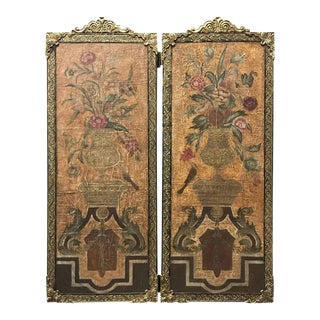 Baroque Style Still Life Paintings / Wall Panels - A Pair