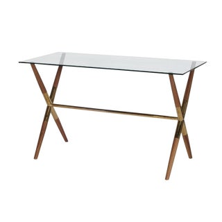 Contemporary Worlds Away Metal Graham Writing Desk