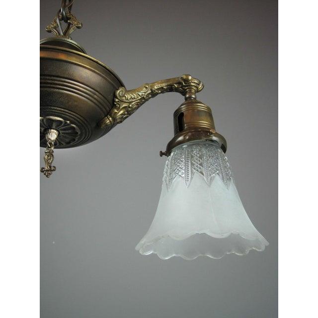 Original Pan Light Fixture (2-Light) - Image 4 of 7