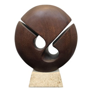 1980s Gert Olsen Teak Sculpture For Sale
