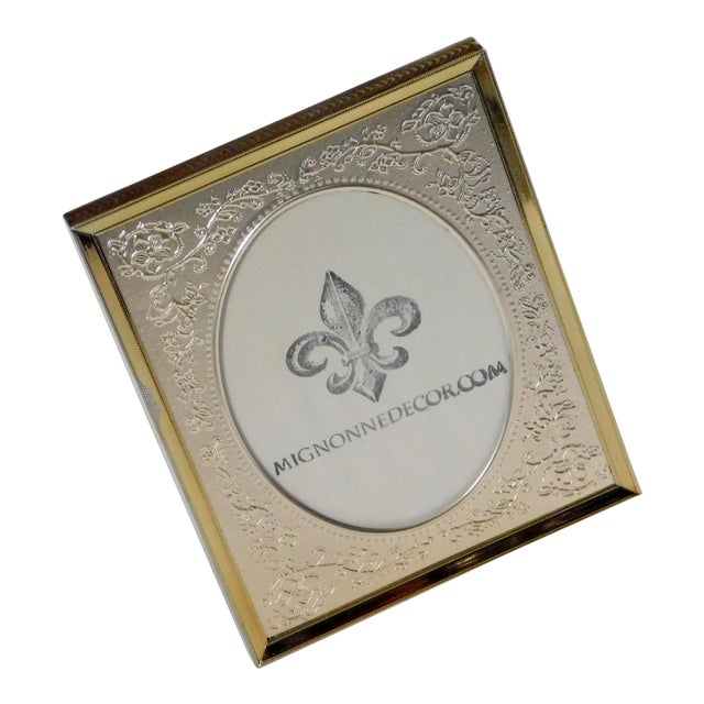 Brass Floral Picture Frame For Sale