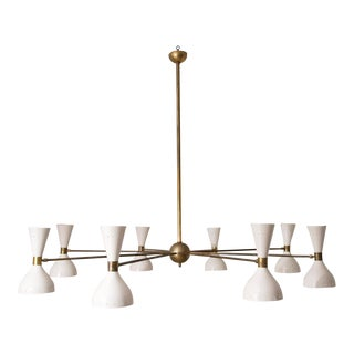 Stilnovo Eight Arm Diabolo Chandelier, Italy, 1950s For Sale