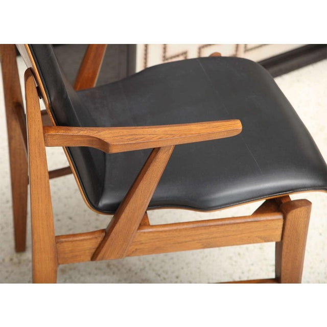 Pair of Danish Modern and Teak Armchairs For Sale - Image 9 of 11