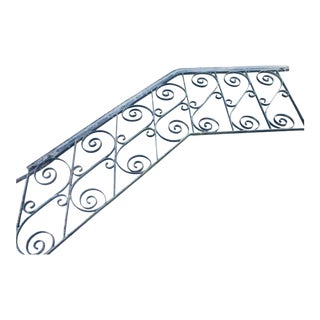 Antique Wrought Iron Stair Railing For Sale