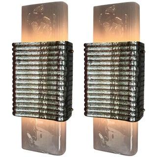 Fabio Ltd Righe Sconces / Flush Mounts - a Pair For Sale