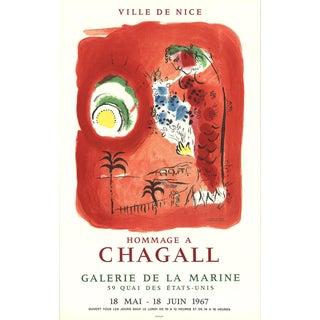 Marc Chagall, Ville De Nice, Mourlot Lithograph, 1967 For Sale