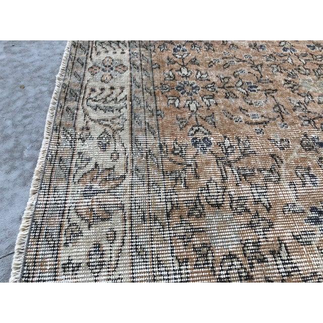 Brown 1960s Turkish Oversize Handmade Carpet For Sale - Image 8 of 10