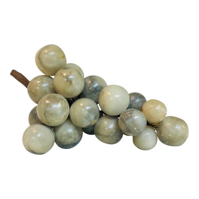 Vintage Green & Grey Marbled Alabaster Grape Cluster For Sale