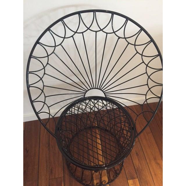 Vintage BoHo Metal Peacock Chair - Image 6 of 6