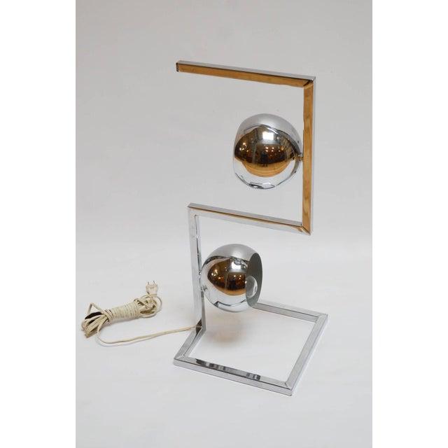 Mid-Century Modern Chrome Eyeball Lamp - Image 2 of 8